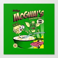 gremlins Canvas Prints featuring Mogwai's Breakfast the after midnight snak by Faniseto