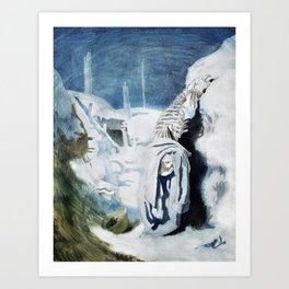 The casualties of the fighting - Sir William Orpen Art Print