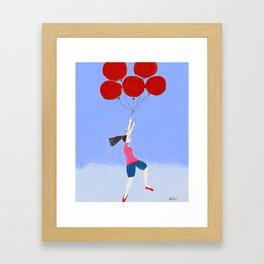 Balloon Lady Framed Art Print