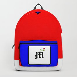 A Family Crest with a Capital Letter M, Mu Backpack