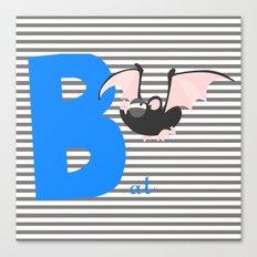 b for bat Canvas Print