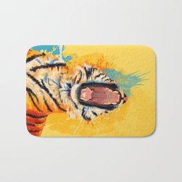 Wild Yawn - Tiger portrait Bath Mat