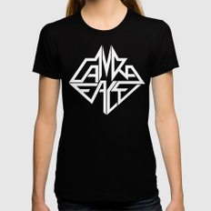 CamRaFace Logo White for T-Shirts Black X-LARGE Womens Fitted Tee