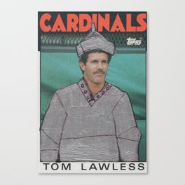 Tom Lawless as the Tin Man, Cardinals Canvas Print