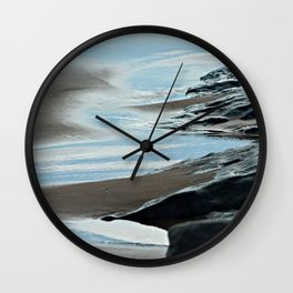 Coastal Landscape Cliffs Calm Sea Wall Clock