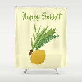 Wish You a Very Joyful Sukkot Shower Curtain