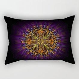 Hieroglyph Moth Mandala Rectangular Pillow