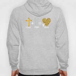 Jesus Scripture, Faith, Christian, Holy Week, 1 Cross Plus 3 Nails 4given Forgiven, Believers  Hoody