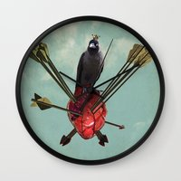 arrows Wall Clocks featuring Arrows by Seamless