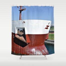 Freighter in Soo Locks Shower Curtain