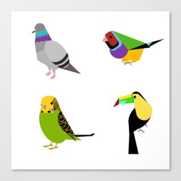geometric bird print Canvas Print