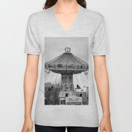 Carousel black and white #carousel #blackandwhite Unisex V-Neck