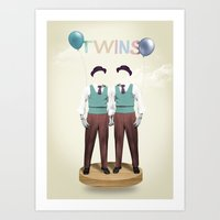 twins Art Prints featuring TWINS by Nazario Graziano