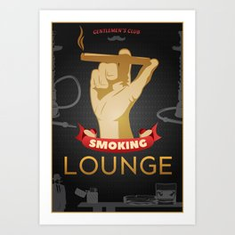 Smoking Lounge Poster Art Print
