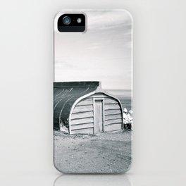 Holy Island Boat Sheds iPhone Case