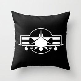 F-4 Phantom II Military Fighter Jet Airplane Throw Pillow