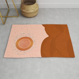Rays of Love - Copper Light Rug