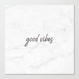 Good Vibes Marble Canvas Print