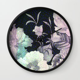 roses and poenies Wall Clock