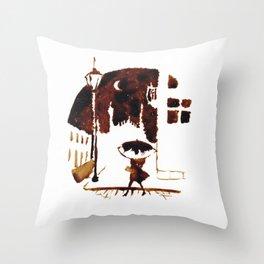 Late Moon Throw Pillow