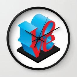 LOVE Sculpture Wall Clock