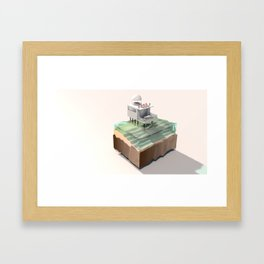 Holiday House Framed Art Print