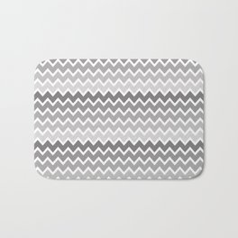 Grey Gray Ombre Chevron Bath Mat