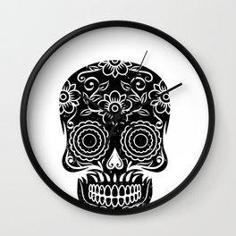 Sugar Skull Calavera graphic Gift for Mexican Decor Lovers Wall Clock