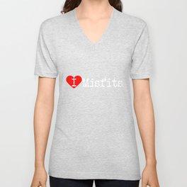 I Heart Misfits | Love Misfits Unisex V-Neck