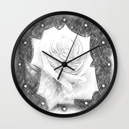 Pink Roses in Anzures 4 Charcoal Wall Clock
