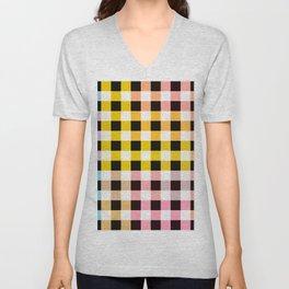 Colorful Checker 05 Unisex V-Neck
