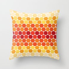 Warm Circles Throw Pillow