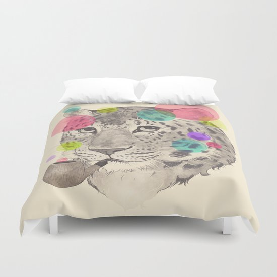 leopard changes his spots Duvet Cover