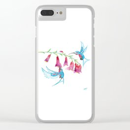 Hummingbird Spirit Guides Clear iPhone Case