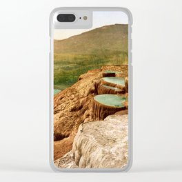 Pulpit Terraces Mountains Clear iPhone Case