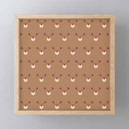 Rudolph Clones (Patterns Please) Framed Mini Art Print