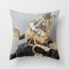 Rucus Studio Halloween Drucilla Fusspot Throw Pillow