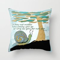 lee pace Throw Pillows featuring Set Your Pace by SueOdesigns