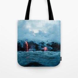 Vulcano ocean Tote Bag
