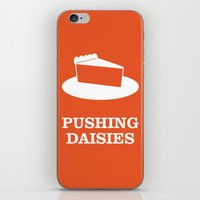 pushing daisies iPhone & iPod Skins featuring Pushing Daisies by MacGuffin Designs