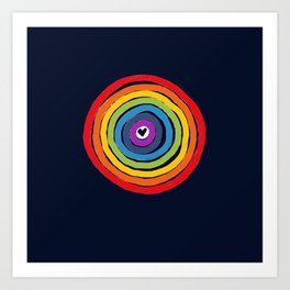 Bulls Eye  to love Art Print