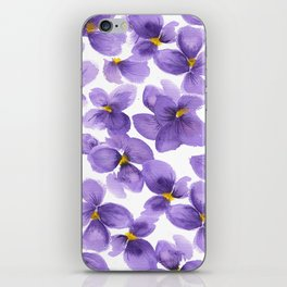 Violets are blue iPhone Skin