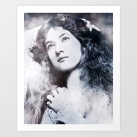 iron maiden Art Prints featuring Maiden by ArtChickStudio