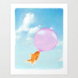 Goldfish Vacation Art Print