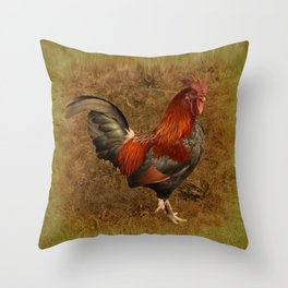 ROOSTER - 026 Throw Pillow
