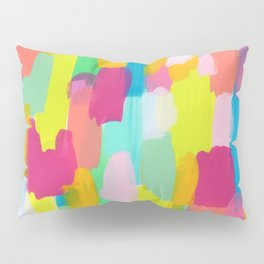 Meet Me In The Rainbow Woods - colorful abstract painting pattern Pillow Sham