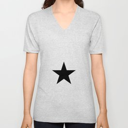 black star digital art work designer label zollion store Unisex V-Neck