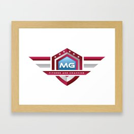 MG Fitness and Coaching Logo Framed Art Print