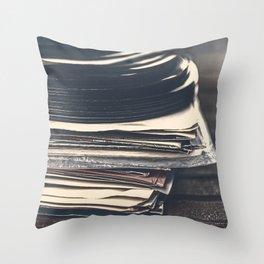 Vintage Vinyl Records 2 Throw Pillow