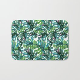 Elephant Tropical Leaves Pattern Badematte